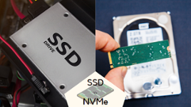 a ssd and a NVMe drive