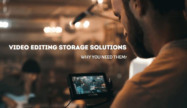 video editing storage banner