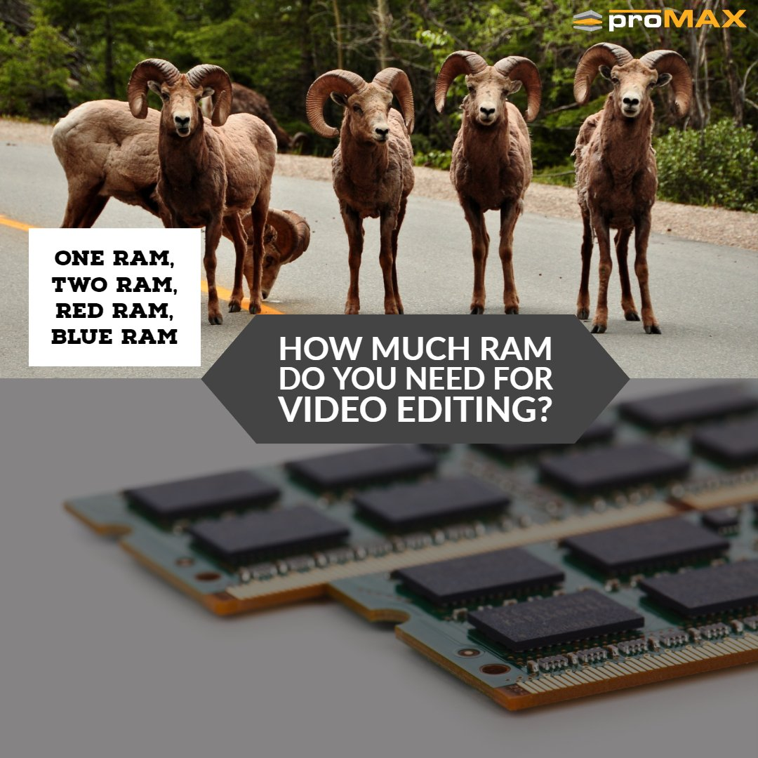 How much RAM do I need for Video Editing?