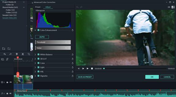 wondershare filmore9 interface