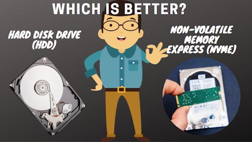 Explaining the Difference between the HDD and NVMe Drives